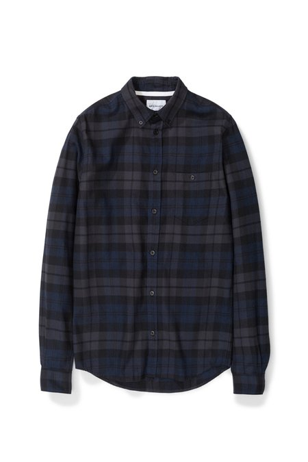 Norse Projects Anton - Flannel Check Dark Navy