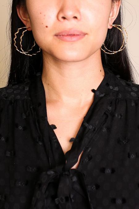Odette New York Etienne Earrings - Brass
