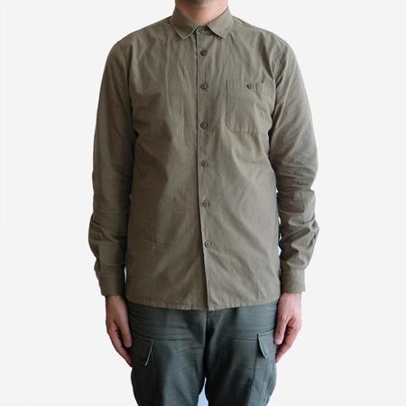 Kestin Hare Stonehaven Garment Dyed Shirt - Khaki Olive