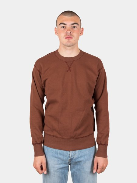 National Athletic Goods Single V Warmup Piece Dyed Sweatshirt - Oxblood