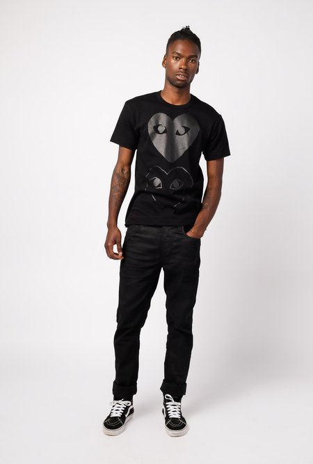 Comme des Garçons Play Hearts T-Shirt - Black