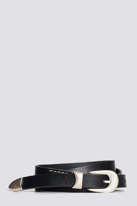 Our Legacy Leather Belt - Black