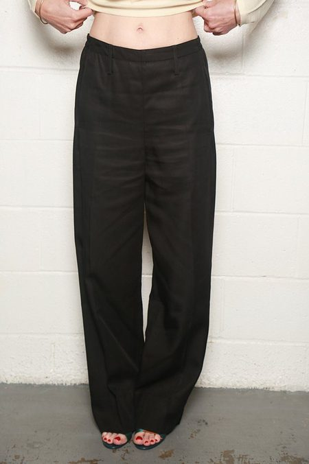 Lemaire Long Elasticated Pants - Black