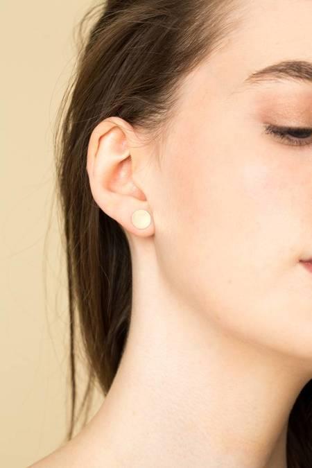 Kathleen Whitaker Sequin Stud Earrings