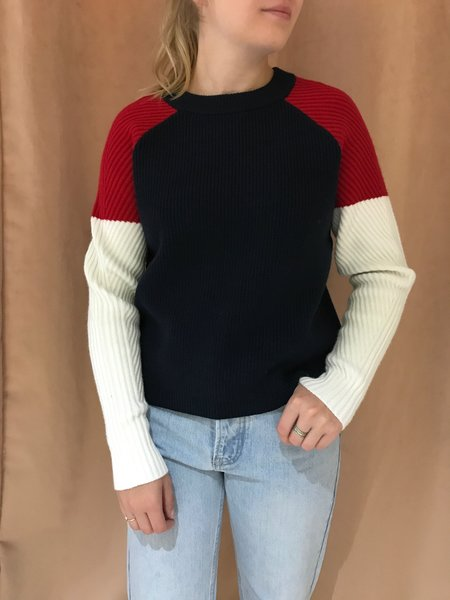 JUST FEMALE SOPHIE KNIT SWEATER - DARK SAPPHIRE