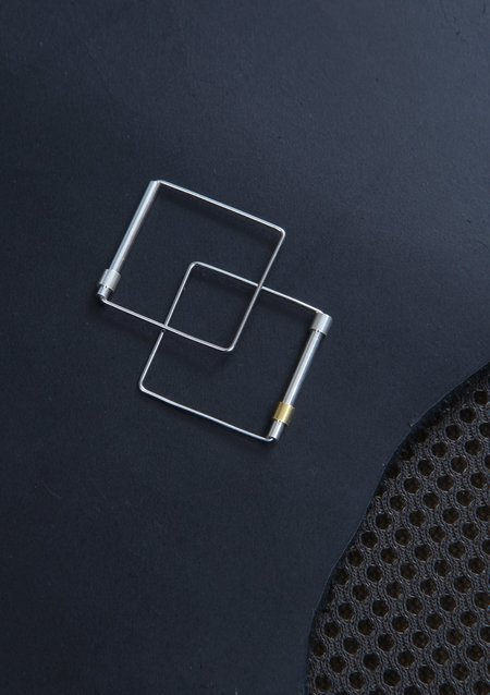 Karla Olsakova Cube Ring - Silver