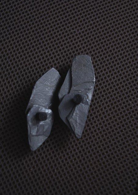 Karla Olsakova Primitive Earring - Slate/Rubber