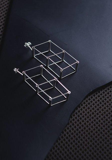 Karla Olsakova Stacked Cube Earrings - silver