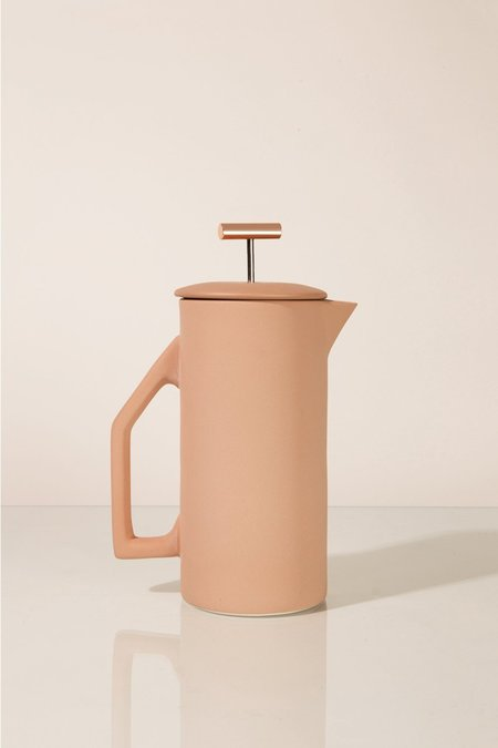 Yield 850 ml Ceramic French Press - Matte Sand