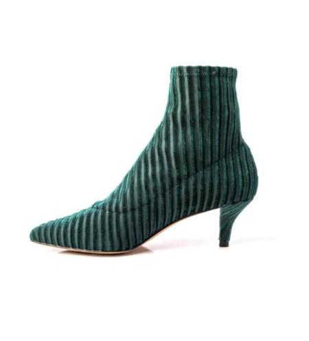LoversLand Selena Suede Velvet Boot - Green