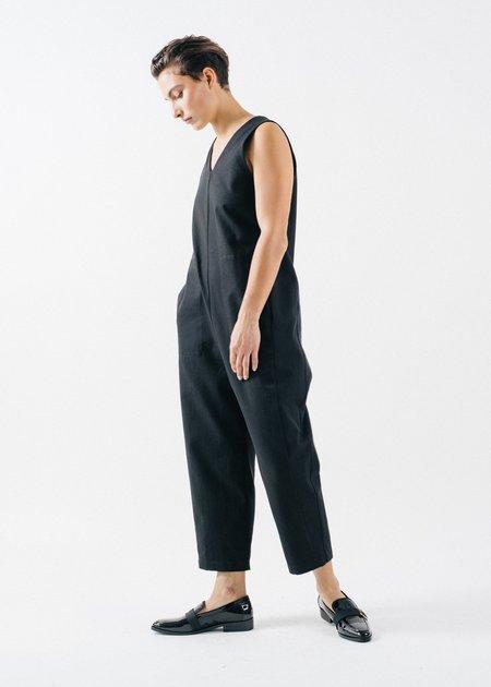 REIFhaus Lou Hemp Canvas Jumpsuit - Black