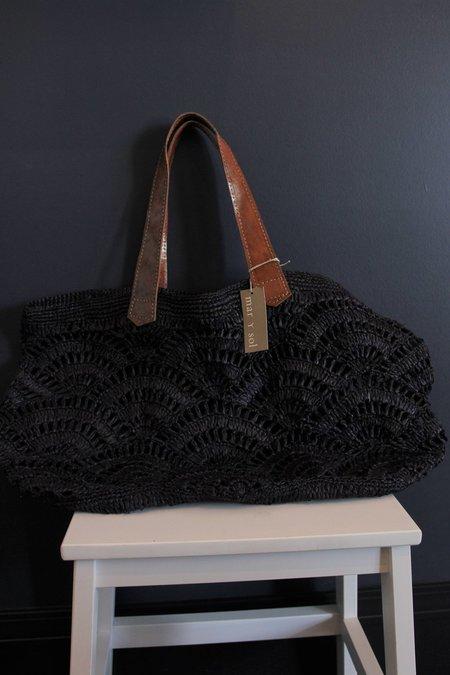 Mar Y Sol Tulum Crocheted Carryall - NAVY