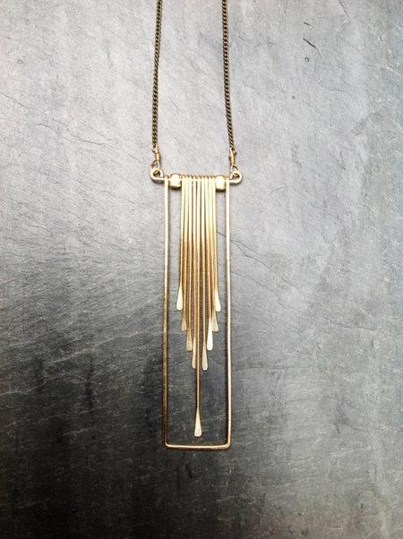 Mmē Loop Rectangle Cascade Necklace - Gold