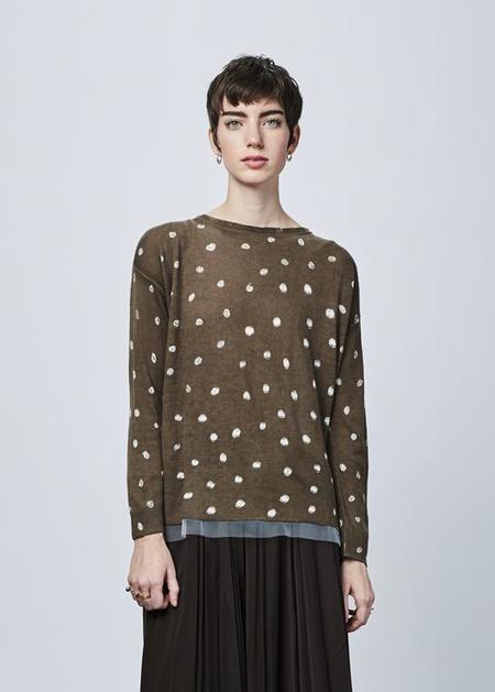 Yoshi Kondo Up Knit Dress - dark taupe