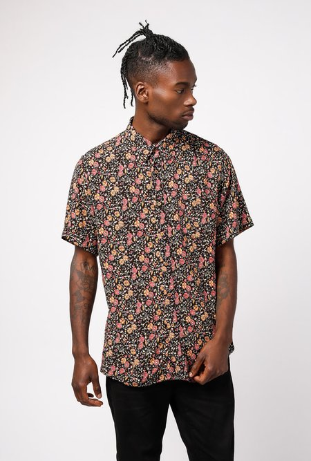 RAGA MAN short sleeve Point Collar Shirt - Small Floral