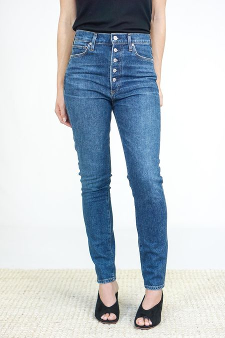 Citizens of Humanity Olivia High Rise Slim Ankle Jeans - Circa