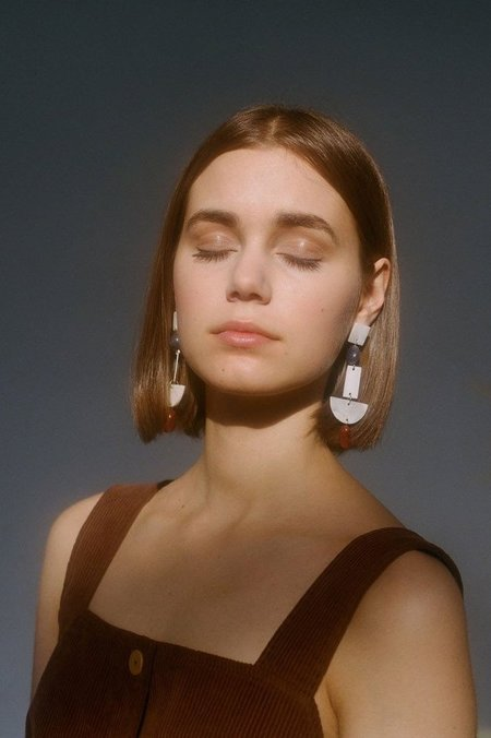 Paloma Wool Marili Earrings - NACRE/STONE