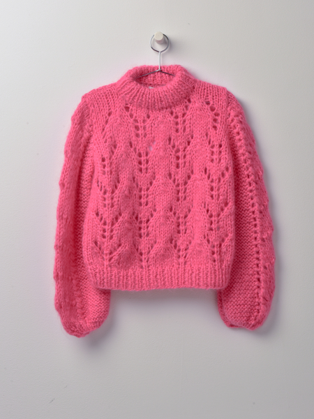 Ganni The Julliard Mohair - Hot Pink