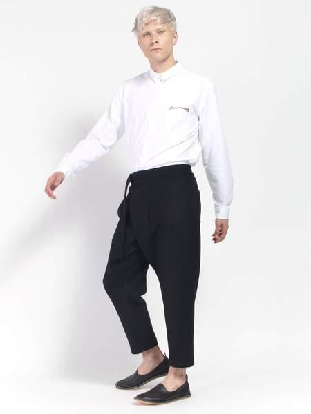 Deveaux Wool Melton Asymmetrical Pant