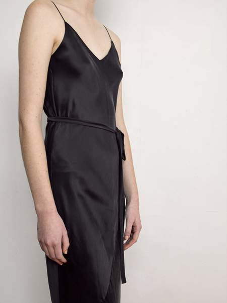 OVNA OVICH Deni Dress - Black Sandwashed Silk