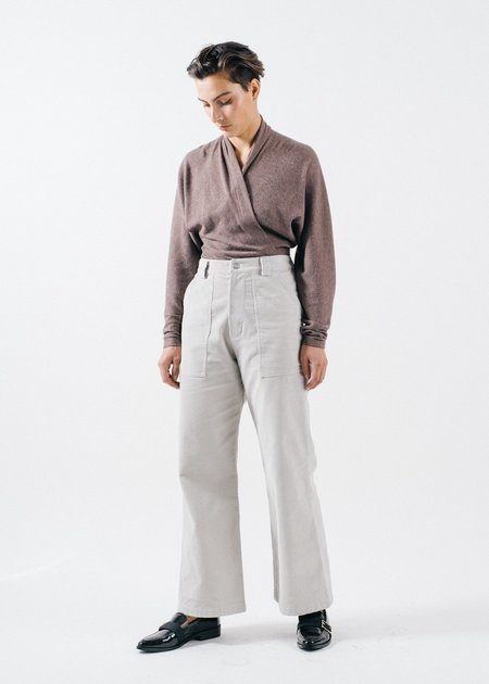 REIFhaus Nori Sweater Knit Bodysuit - Mushroom