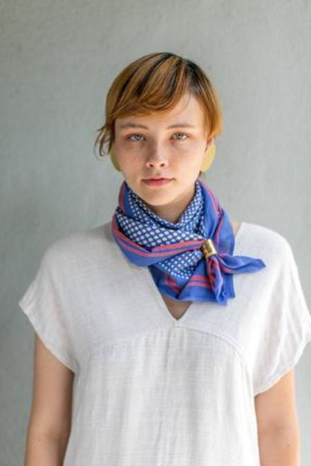 Block Shop Textiles Bernadette Square Scarf - Cobalt