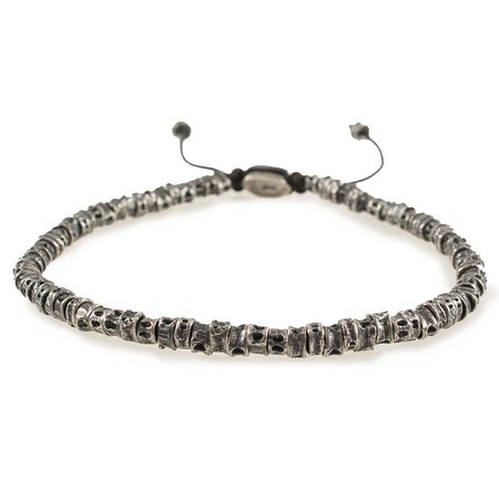 M. Cohen Mini Oxidized Casted Fish Bone Bracelet