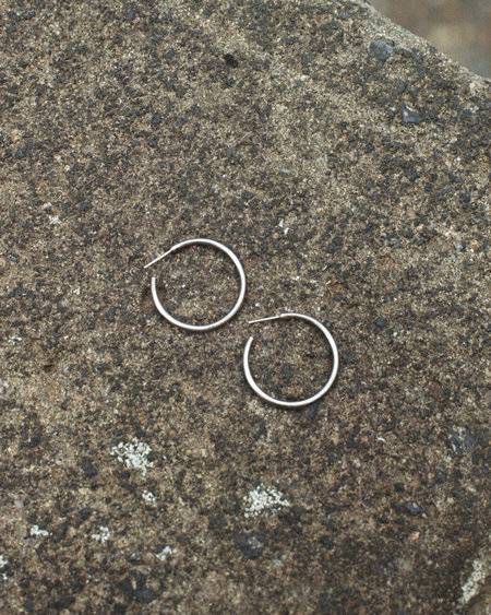 Vintage Peso Classic Hoops - STERLING SILVER