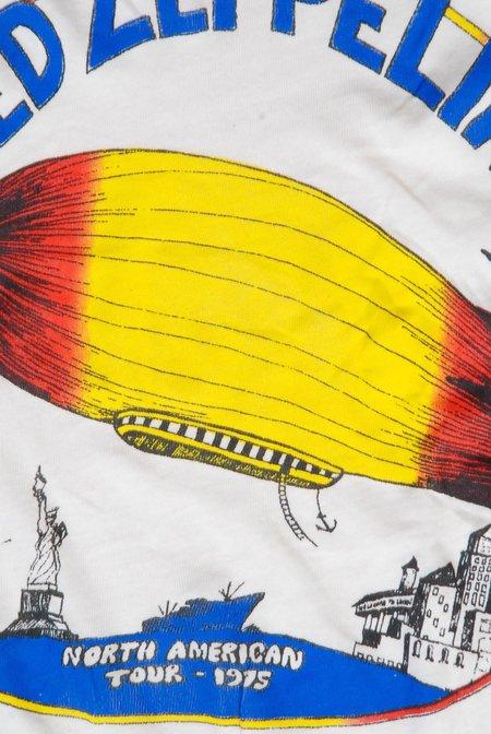Unisex MadeWorn Led Zeppelin N. American Tour T-shirt - Dirty White