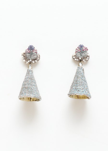 Nani Haveli Large Embroidery Earring - 10