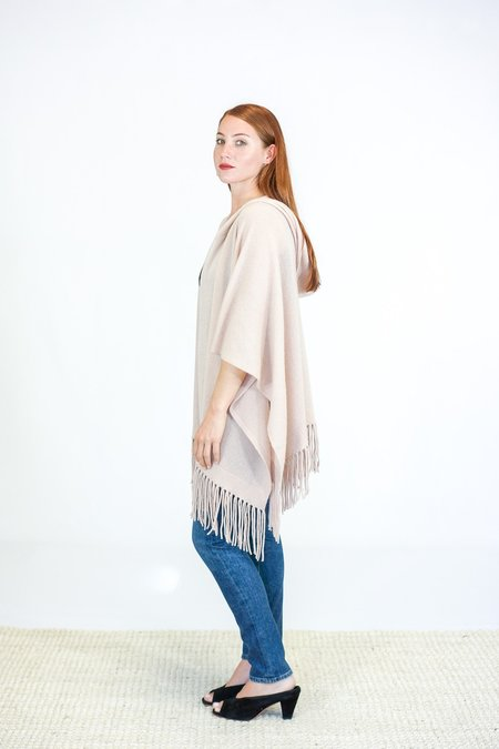 Skin Gabriella Hooded Cashmere Serape - Rose Dust