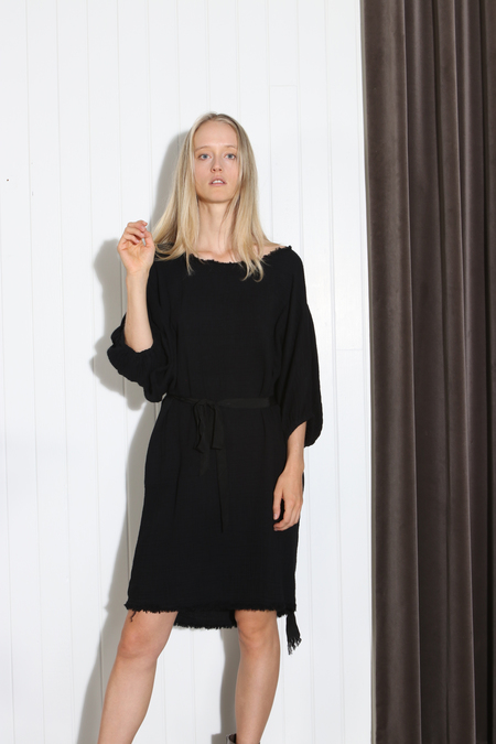 Raquel Allegra Dolman Dress - black
