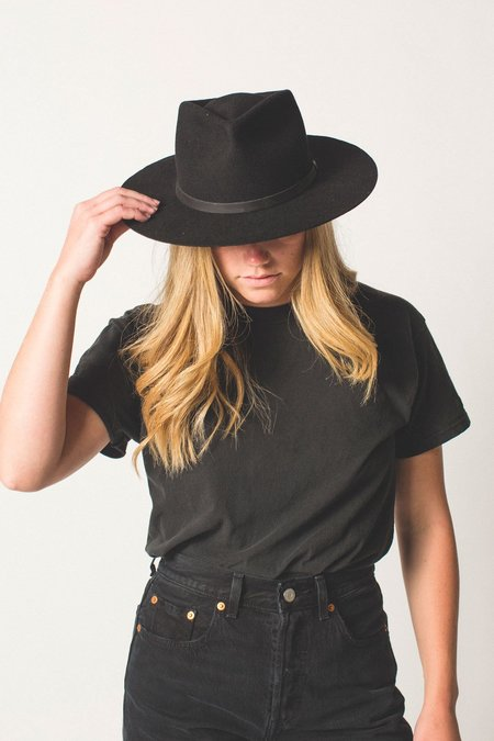 Yellow 108 Dylan Fedora - Black