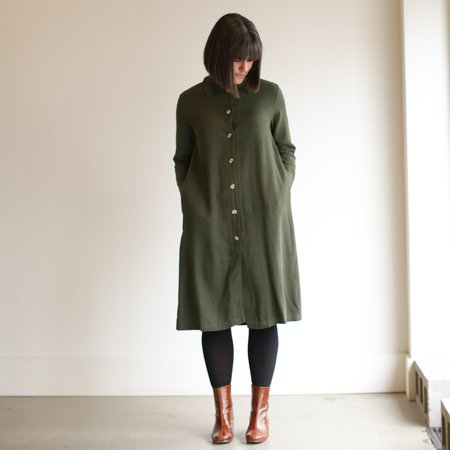 Me and Arrow Long Jacket Dress - Moss
