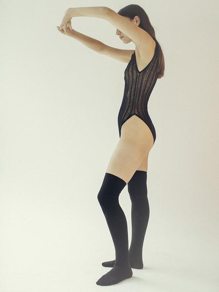 Suzanne Rae Knit Bodysuit - Black