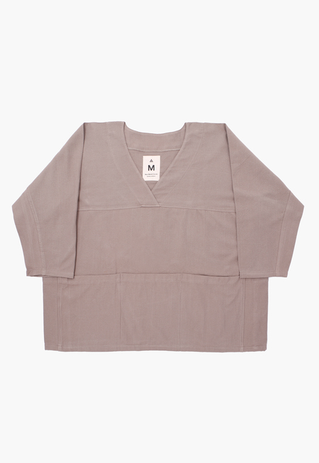 Deshal Canvas Pocket Smock top - Gray