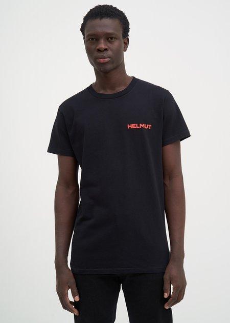 Helmut Lang Brian Roettinger Logo Hack T-Shirt - Black