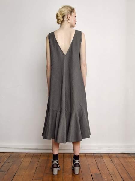 OVNA OVICH Cotton Linen Moniya Dress - Glen Plaid