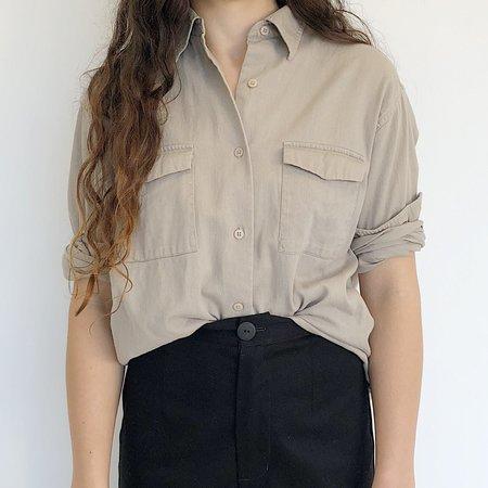 Vintage  Johan Twill Shirt - Beige