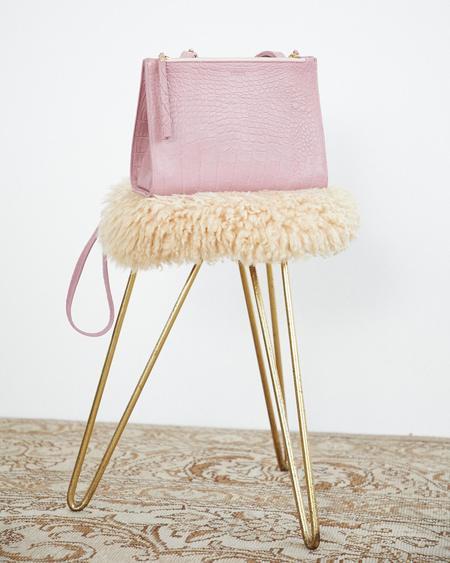 Nanushka Izabel Cross Body Messenger Bag - Woodrose
