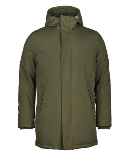 Knowledge Cotton Apparel Long Soft Shell Quilted Jacket - GRS