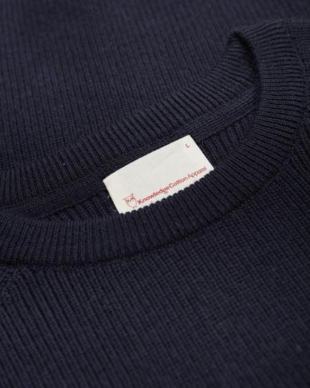 Knowledge Cotton Apparel Pantent Knit - Total Eclipse