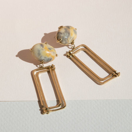 Lindsay Lewis Donna Earrings - BRASS