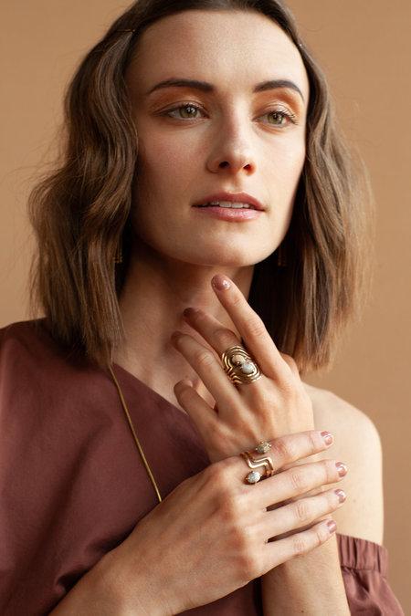 Lindsay Lewis Jewelry Flipside Ring - BRASS