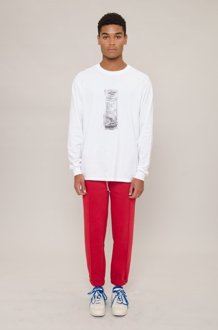 North Hill Long Sleeve Receipt Tee - White