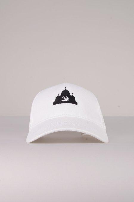 North Hill White Logo Hat - White