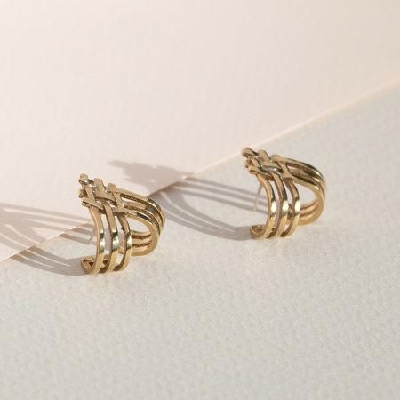 Lindsay Lewis Split Earrings - BRASS
