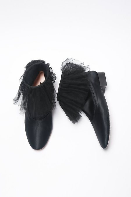 Repetto Judith Satin + Tulle Bootie - Black
