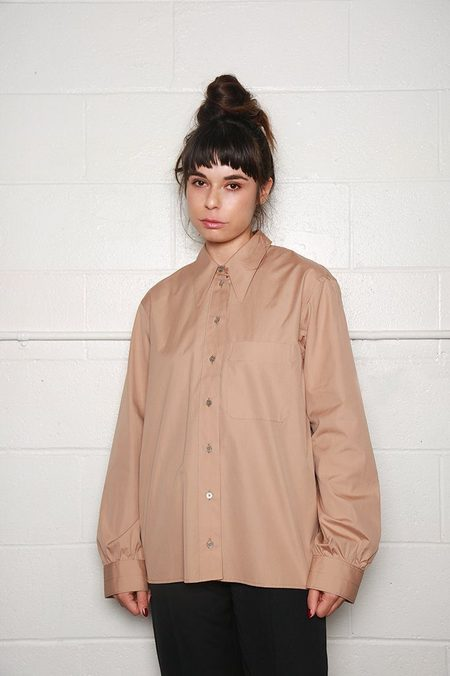 Lemaire Pointed Collar Shirt - Tea Rose