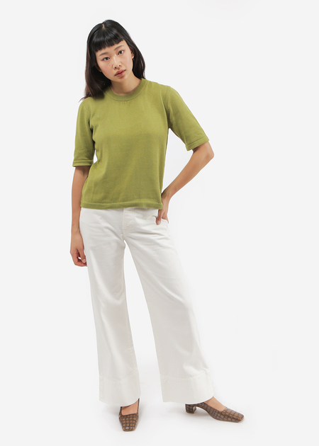 Kowtow Knitted Tee in Gingko